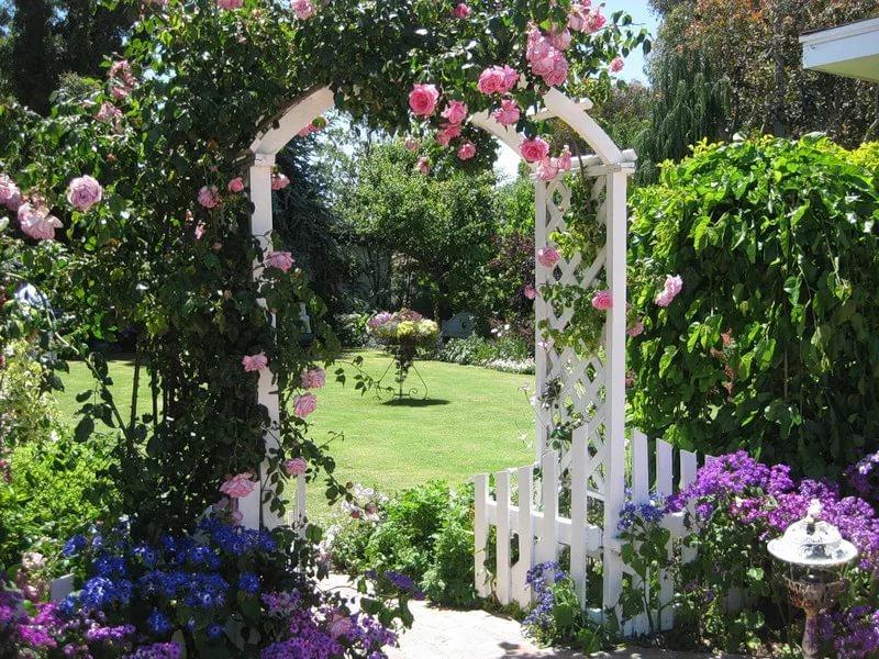 Деревянная арка для сада своими руками