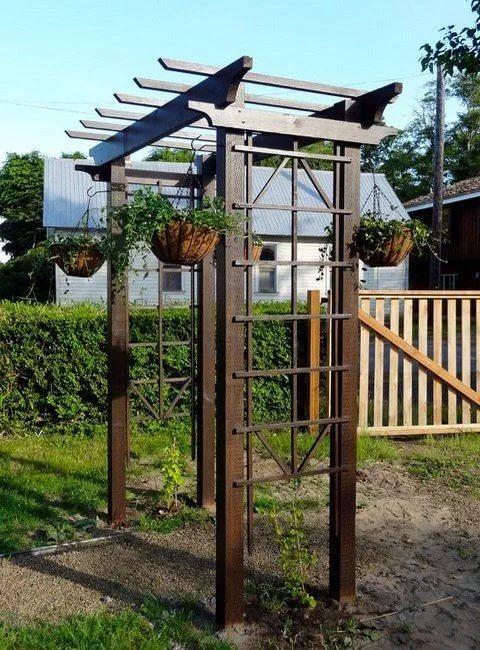 Садовая арка своими руками - как сделать деревянную арку?