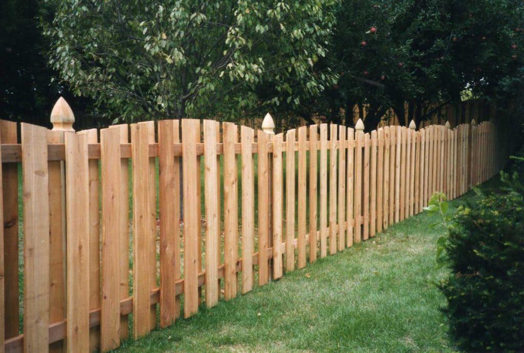 Классический забор из лиственницы