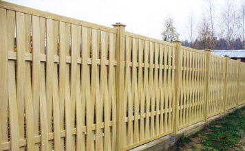 забор из деревянных досок